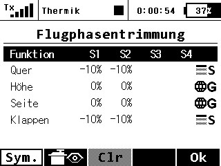 Flugphasentrimm 3