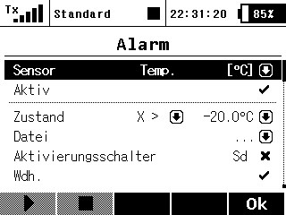 Sprachausgabe Alarme 2