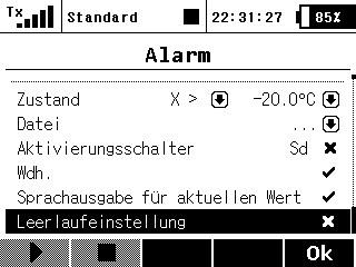 Sprachausgabe Alarme 3