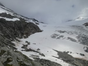 Unter Teil des Gletschers