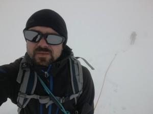 Anstieg im Nebel